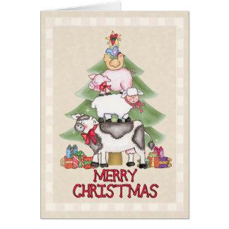 Country Farm Christmas Card