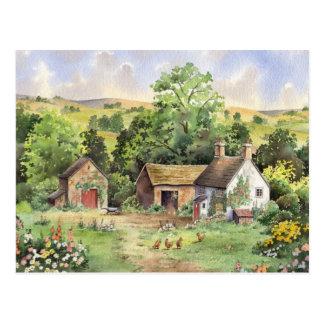 """Country Farm"" idyllic country landscape Postcard"