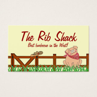 Country Farm Pig Barbecue Business Card