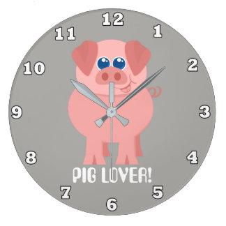 Country Farm pig lover room decor clock