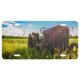 Country Farm Scene License Plate