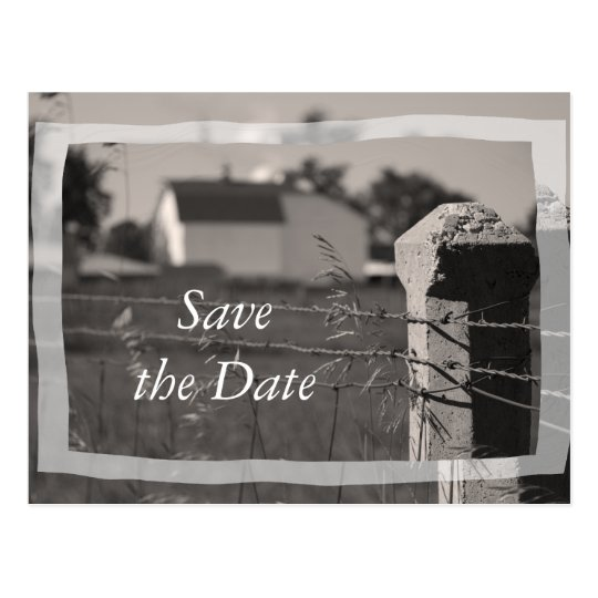 Country Farm Wedding Save the Date Announcement Postcard