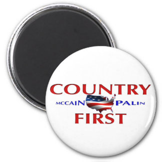 Country First John McCain Palin Magnet for car