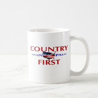 Country First John McCain Sarah Palin Coffee Mug