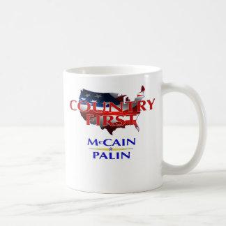 Country First - McCain Palin 2008 Coffee Mug