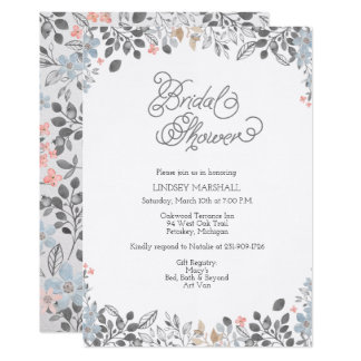 Country Floral Bridal Shower Invitation