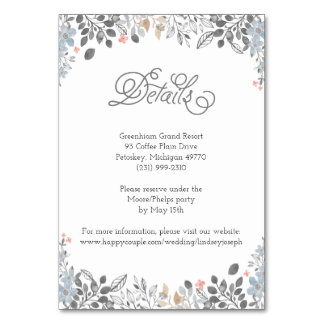 Country Floral Details Card
