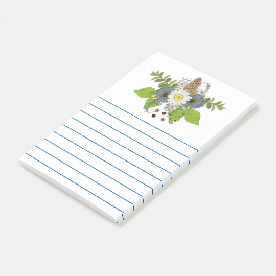 Country Floral Scrappy Post-it Notes