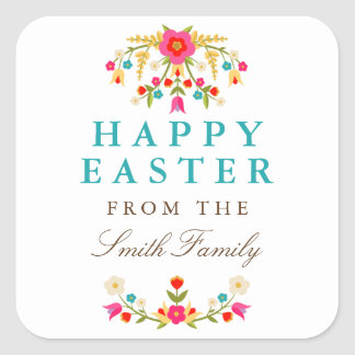 Country Flowers Easter Stickers