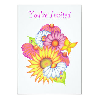 Country Flowers Invitation Card