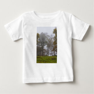 Country Foggy Fall Morning Baby T-Shirt