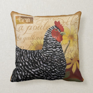 Country French Chicken, La Poulet Pillow