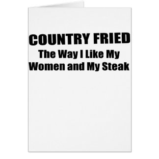 COUNTRY FRIED.png Greeting Card