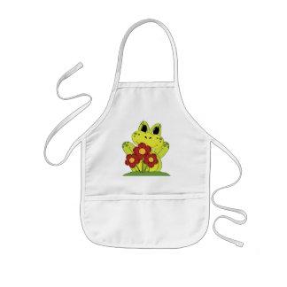 Country Frog fun kitchen kids apron