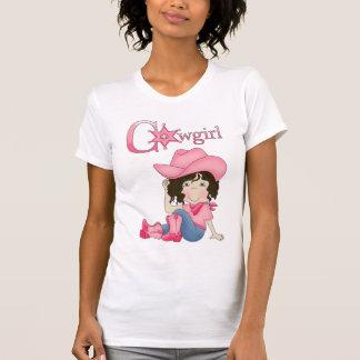 Country Fun Cowgirl Black Hair T-Shirt