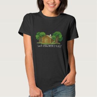 Country Gal Log Cabin womens t-shirt