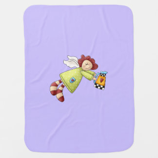 Country Garden Angel Lavender Purple Baby Blanket
