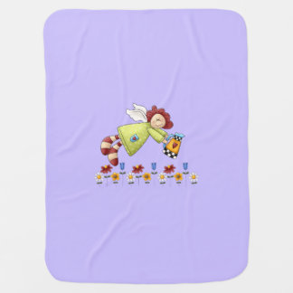 Country Garden Angel Lavender Purple Swaddle Blankets