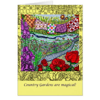 Country Garden Mothers Day Greeting Card