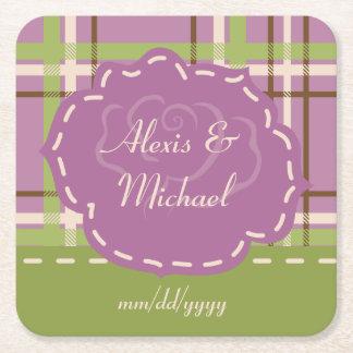 Country Garden Wedding Paper Coaster