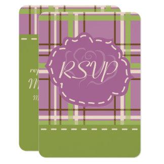 Country Garden Wedding RSVP Card