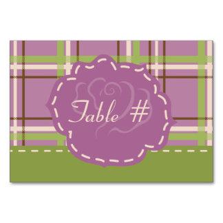 Country Garden Wedding Table Card