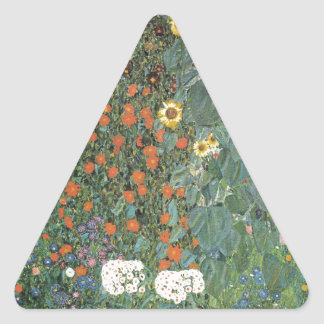 Country Garden with Sunflowers 1907 Triangle Sticker