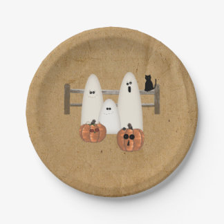 Country Ghosts Paper Plates