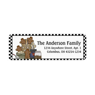 Country Gingerbread Kitchen Return Address Labels