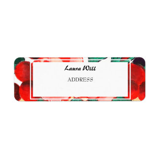 Country Gingham Floral Wedding Return Add Labels