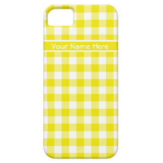 Country Gingham in Lemon Yellow and White Case For The iPhone 5