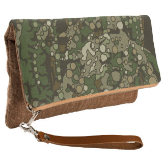 Country Girl Camouflage Fold Over Clutch Bag