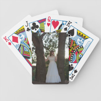 Country Girl Playing Cards