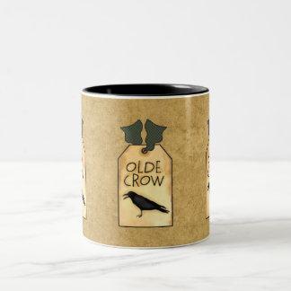 Country Gold Fun Olde Crow Tag Coffee Cup Mug