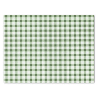 Country Green Check Tissue Paper