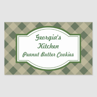 Country Green Kitchen Stickers