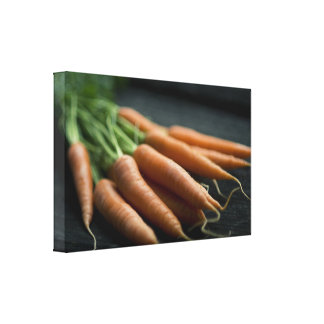 Country Harvest Orange Carrots on the Farm Canvas Print