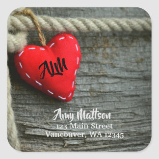 Country Heart Address Label