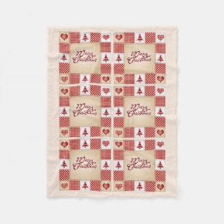 Country Holiday Wishes Christmas Fleece Blanket