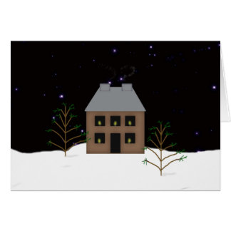 Country Home Christmas Card