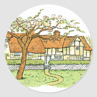 Country Home Classic Round Sticker