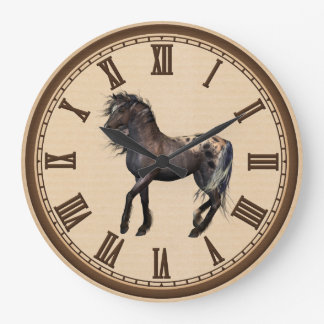 Country Horse home office wall clock