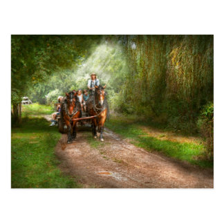 Country - Horse - The hay ride Postcard