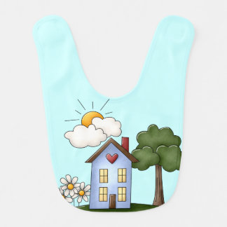 Country House Blue Boy's Baby Bib