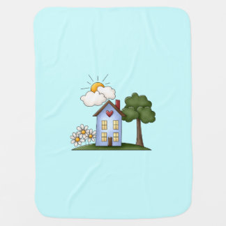 Country House Blue Boy's Baby Blanket