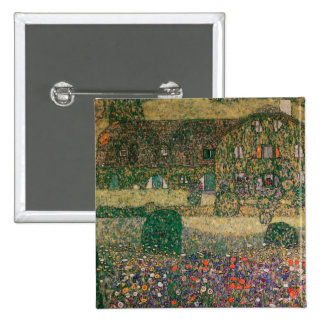 Country House by the Attersee, c.1914 2 Inch Square Button