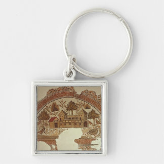 Country house in Tabarka Silver-Colored Square Keychain