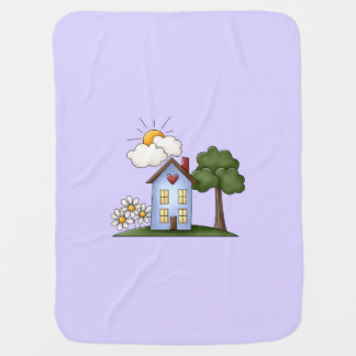 Country House Lavender Unisex Baby Blankets