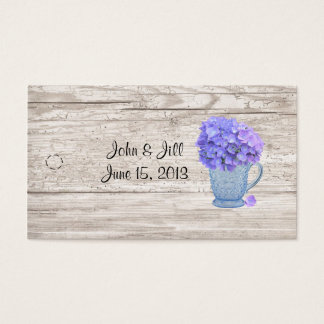 Country Hydrangea Hang Tag Business Card