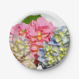 Country Hydrangeas Paper Plate